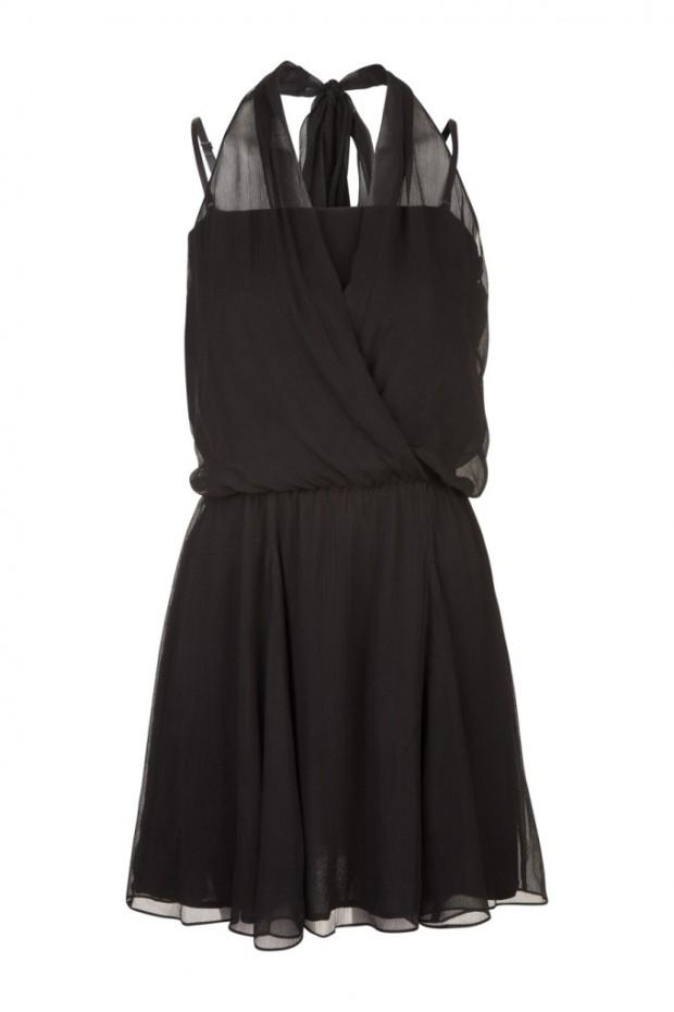 robe drapée attache dans le cou