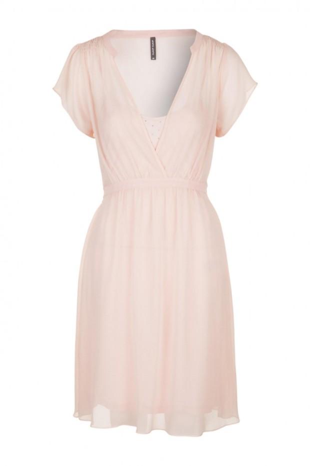 robe en soie à strass