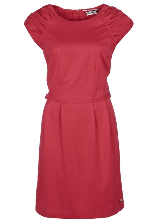 robe fourreau rouge
